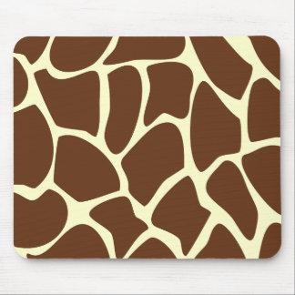 Modelo del estampado de girafa en Brown oscuro Mousepad