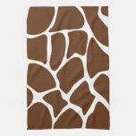 Modelo del estampado de girafa en Brown oscuro Toalla
