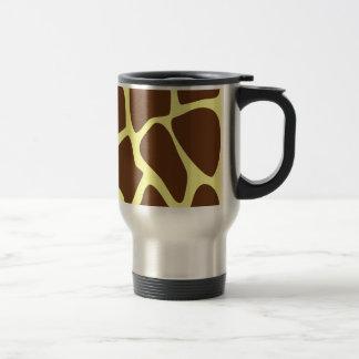 Modelo del estampado de girafa en Brown oscuro Taza De Café