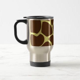 Modelo del estampado de girafa en Brown oscuro Taza De Viaje