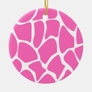 Modelo del estampado de girafa en rosa brillante ornamento de reyes magos