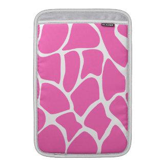 Modelo del estampado de girafa en rosa brillante fundas macbook air