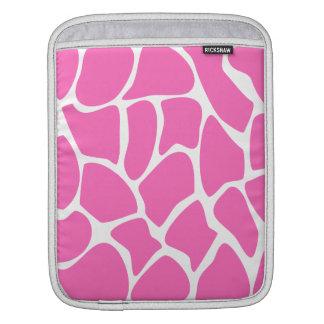 Modelo del estampado de girafa en rosa brillante fundas para iPads