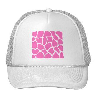 Modelo del estampado de girafa en rosa brillante gorros