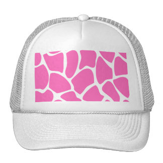 Modelo del estampado de girafa en rosa brillante gorra