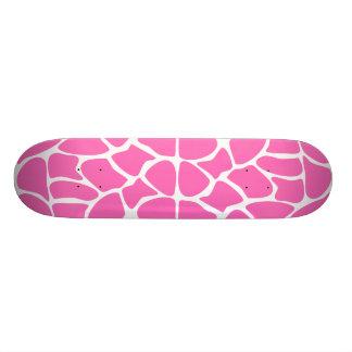 Modelo del estampado de girafa en rosa brillante patineta personalizada