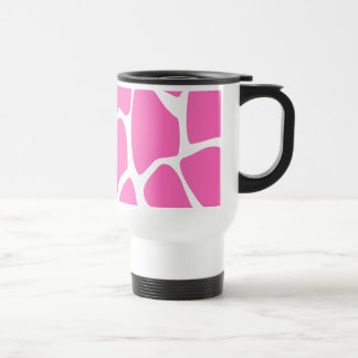 Modelo del estampado de girafa en rosa brillante tazas de café