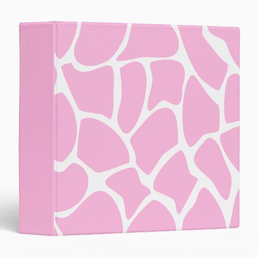 "Modelo del estampado de girafa en rosa del caramel carpeta 1 1/2"""