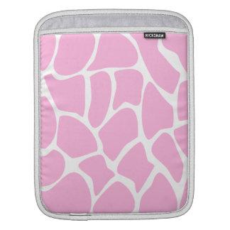 Modelo del estampado de girafa en rosa del caramel funda para iPads