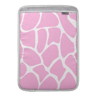 Modelo del estampado de girafa en rosa del caramel fundas macbook air