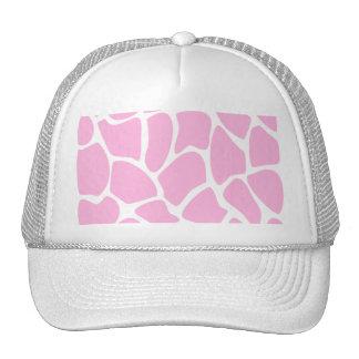 Modelo del estampado de girafa en rosa del caramel gorra