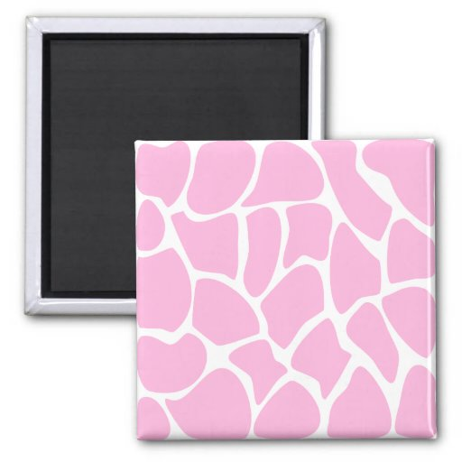 Modelo del estampado de girafa en rosa del caramel imán cuadrado