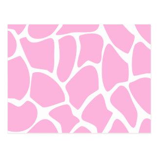 Modelo del estampado de girafa en rosa del caramel postales