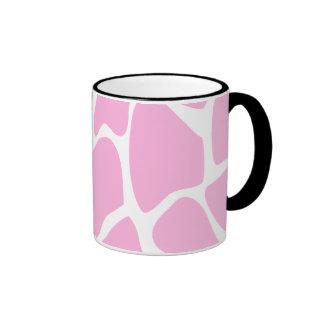 Modelo del estampado de girafa en rosa del caramel tazas