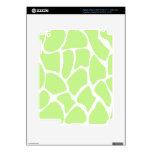 Modelo del estampado de girafa en verde de cal lig pegatinas skins para iPad 3