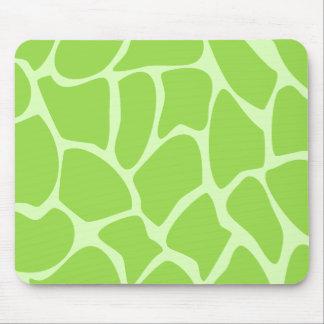 Modelo del estampado de girafa en verde de cal mouse pads