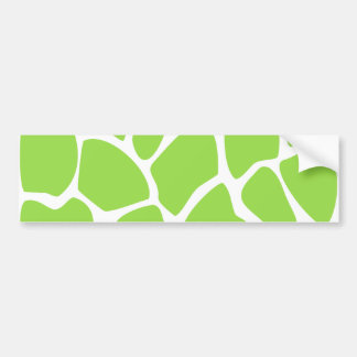 Modelo del estampado de girafa en verde de cal pegatina para auto