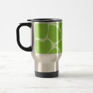 Modelo del estampado de girafa en verde de cal taza térmica