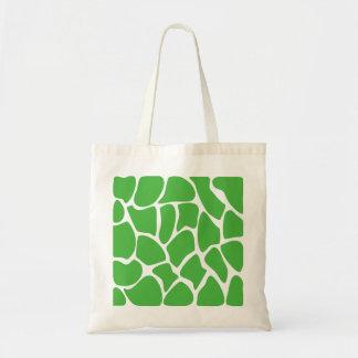 Modelo del estampado de girafa en verde de la selv bolsa lienzo