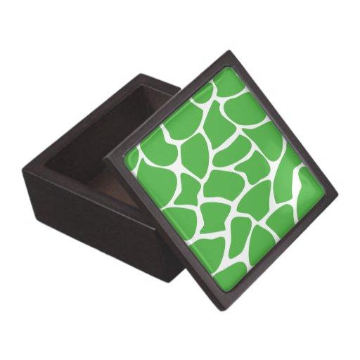 Modelo del estampado de girafa en verde de la selv cajas de joyas de calidad