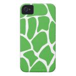 Modelo del estampado de girafa en verde de la selv iPhone 4 fundas