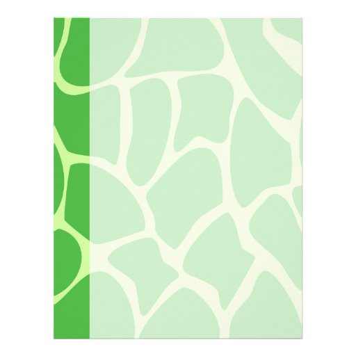 Modelo del estampado de girafa en verde de la selv membrete