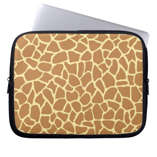 Modelo del estampado de girafa manga portátil