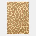 Modelo del estampado de girafa toalla