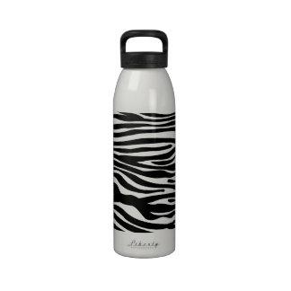 Modelo del estampado de zebra - blanco y negro botella de agua