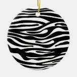 Modelo del estampado de zebra - blanco y negro adorno para reyes