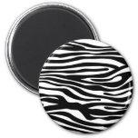 Modelo del estampado de zebra - blanco y negro imanes de nevera
