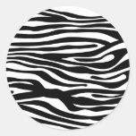 Modelo del estampado de zebra - blanco y negro pegatina