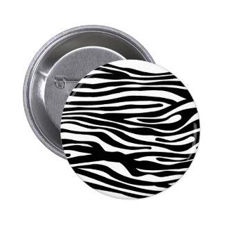 Modelo del estampado de zebra - blanco y negro pin