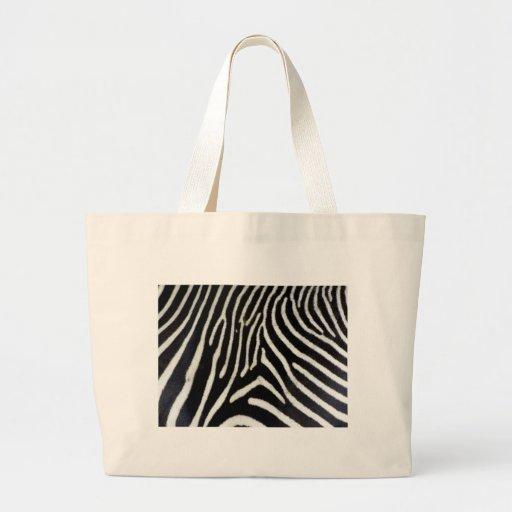 Modelo del estampado de zebra bolsas