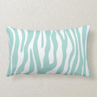 Modelo del estampado de zebra de la verde menta almohada