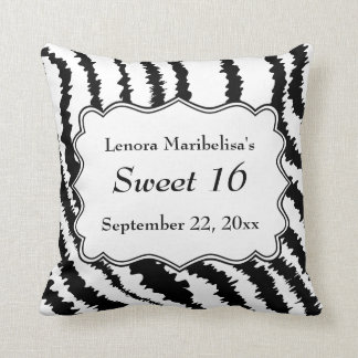 Modelo del estampado de zebra del dulce 16 almohadas