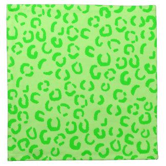 Modelo del estampado leopardo de la verde lima servilletas