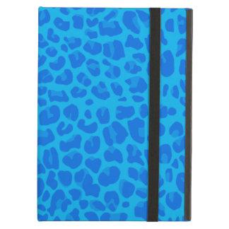 Modelo del estampado leopardo del azul de cielo