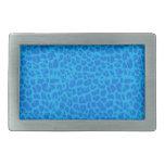 Modelo del estampado leopardo del azul de cielo hebillas cinturón