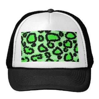 Modelo del estampado leopardo del negro y de la ve gorras de camionero