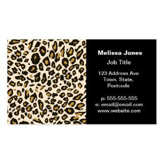 Modelo del estampado leopardo plantilla de tarjeta de negocio