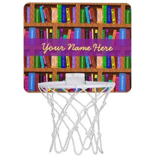 Modelo del estante de librería de la biblioteca canastas mini
