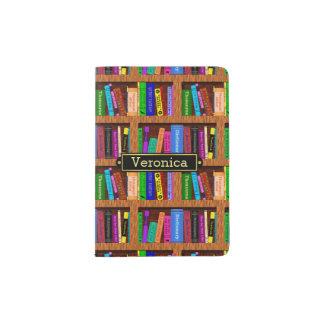 Modelo del estante de librería de la biblioteca porta pasaporte