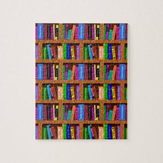 Modelo del estante de librería de la biblioteca puzzle