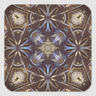 modelo del extracto de la placa de cristal pegatina cuadradas