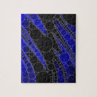 Modelo del extracto del negro azul puzzle
