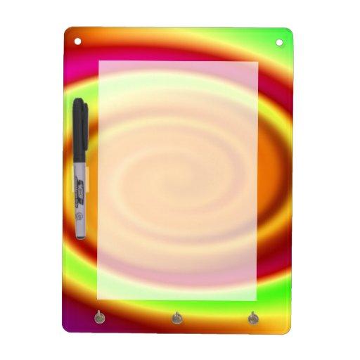 Modelo del extracto del remolino del arco iris tablero blanco