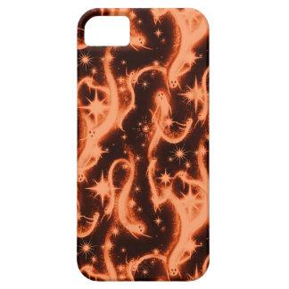 Modelo del fantasma de la chispa del naranja y del iPhone 5 carcasas