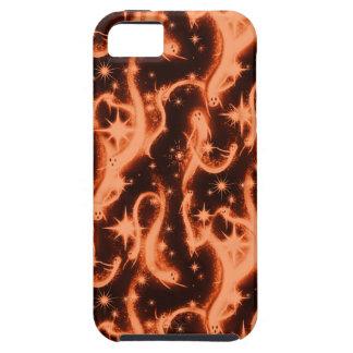 Modelo del fantasma de la chispa del naranja y del iPhone 5 funda