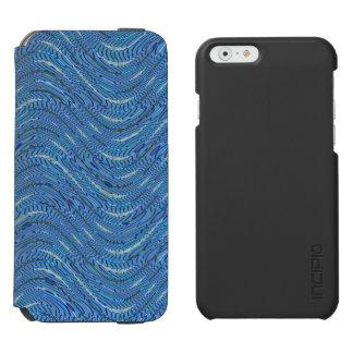 Modelo del fondo de los azules claros funda billetera para iPhone 6 watson